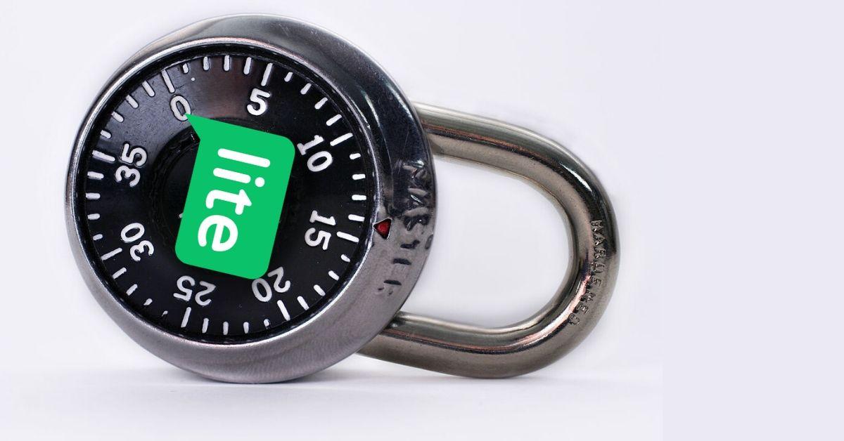 lock with mailerlite logo