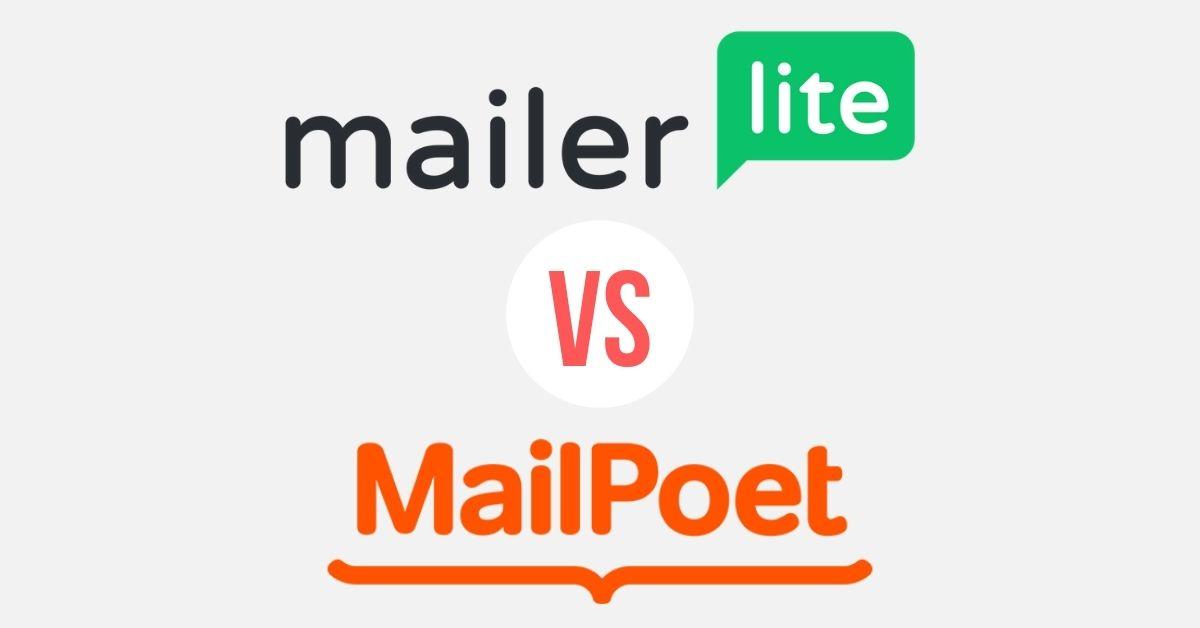mailerlite and mailpoet logos