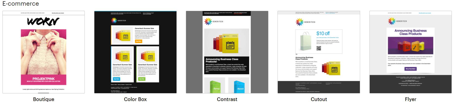 mailchimps ecommerce theme templates