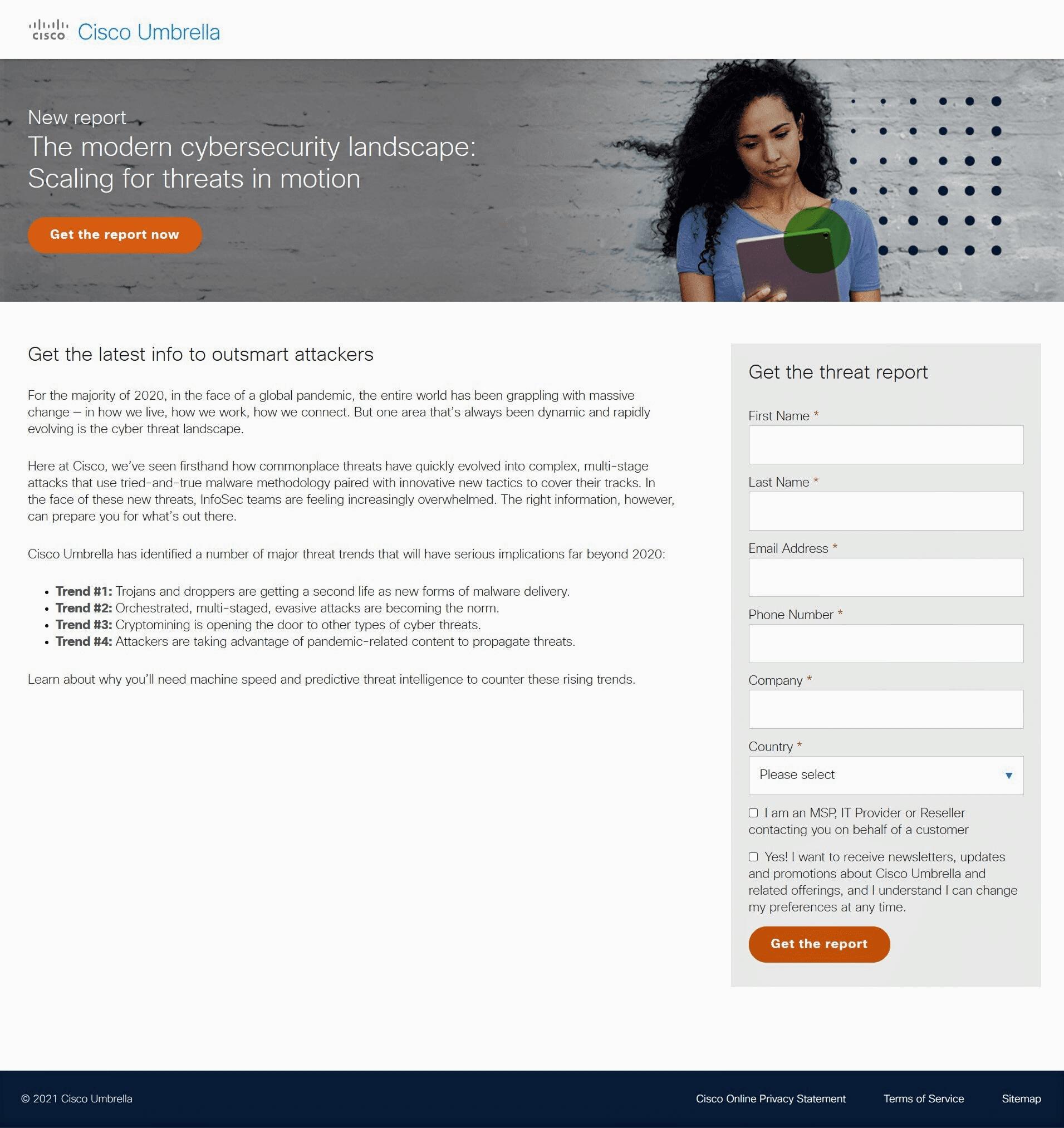 demo landing page