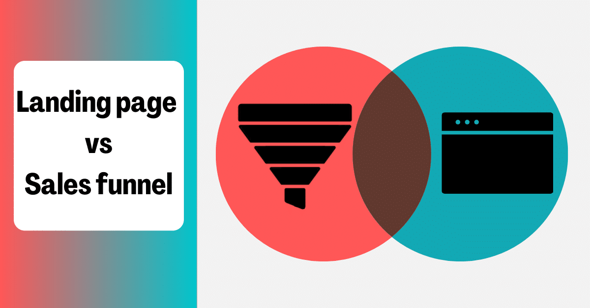 landing page and sales funnel ven diagram