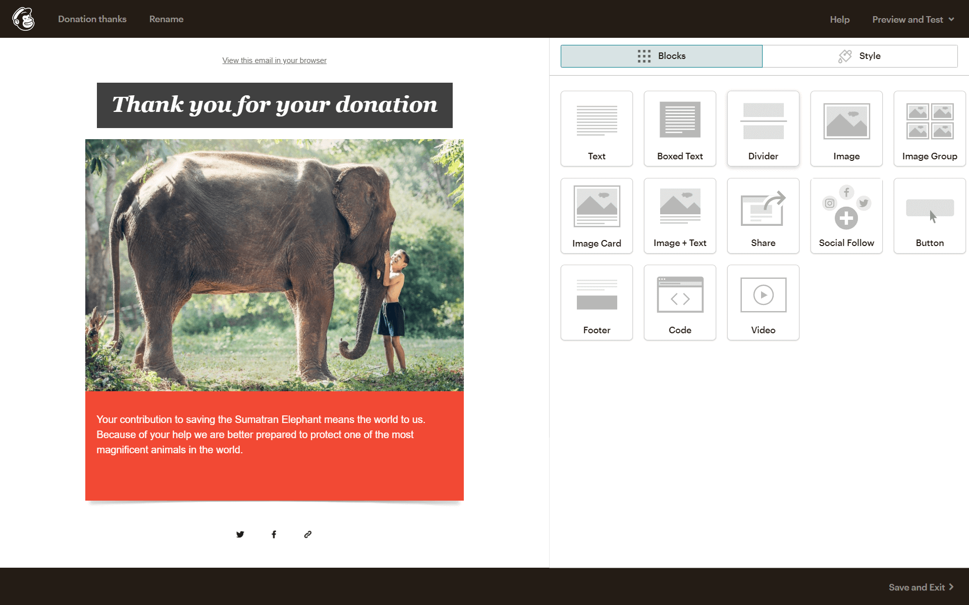 nonprofit template for donations