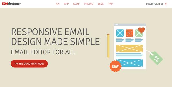 edm designer website home page