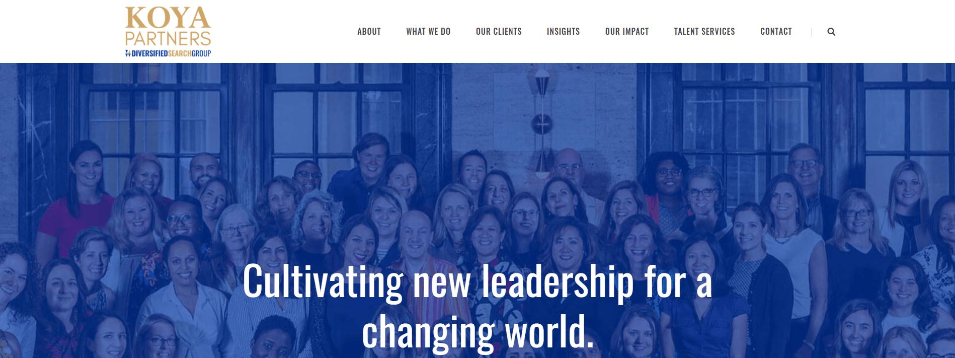 Koya partners home page