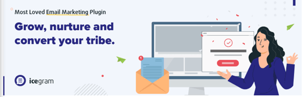 Email subscribers and newsletters by icegram home page