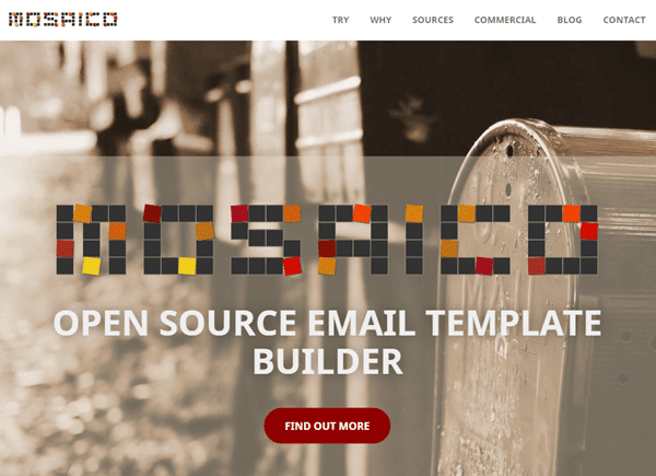 mosaico website home page