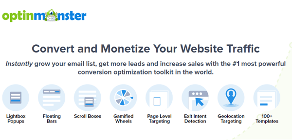 optin monster home page
