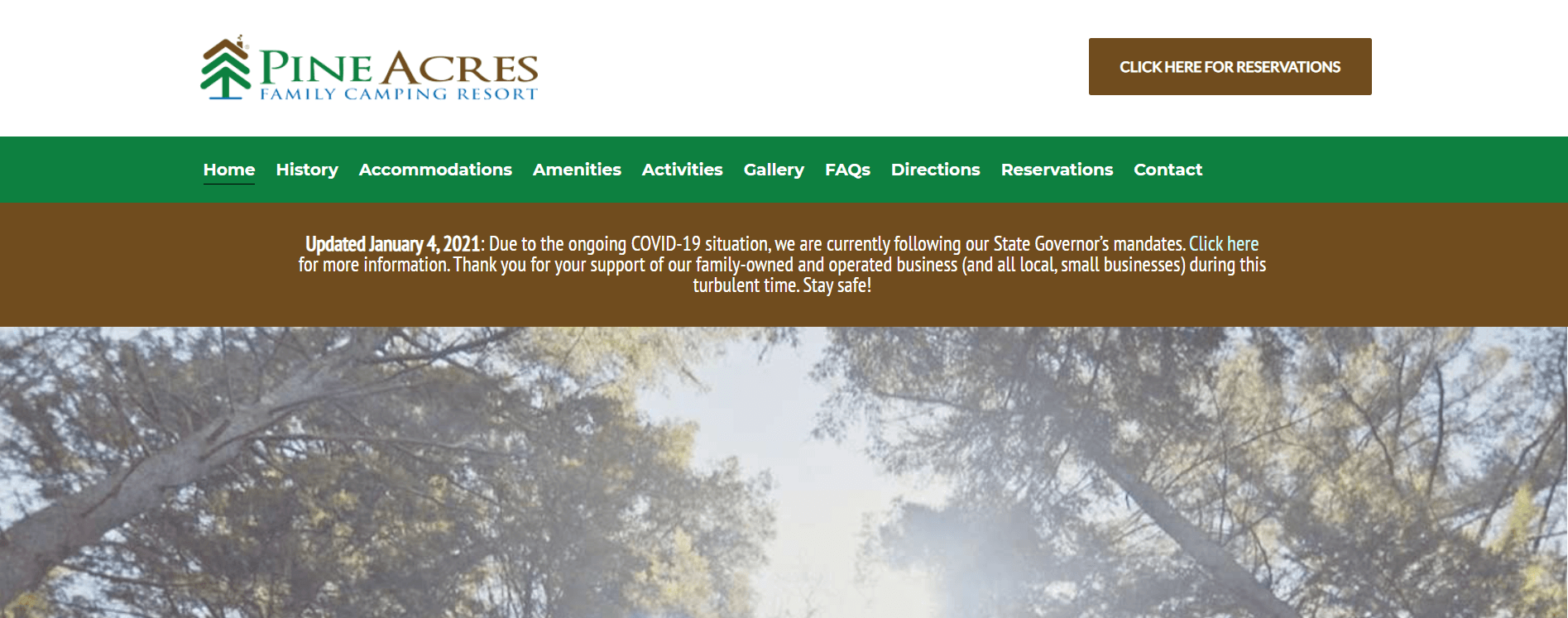 pine acres home page