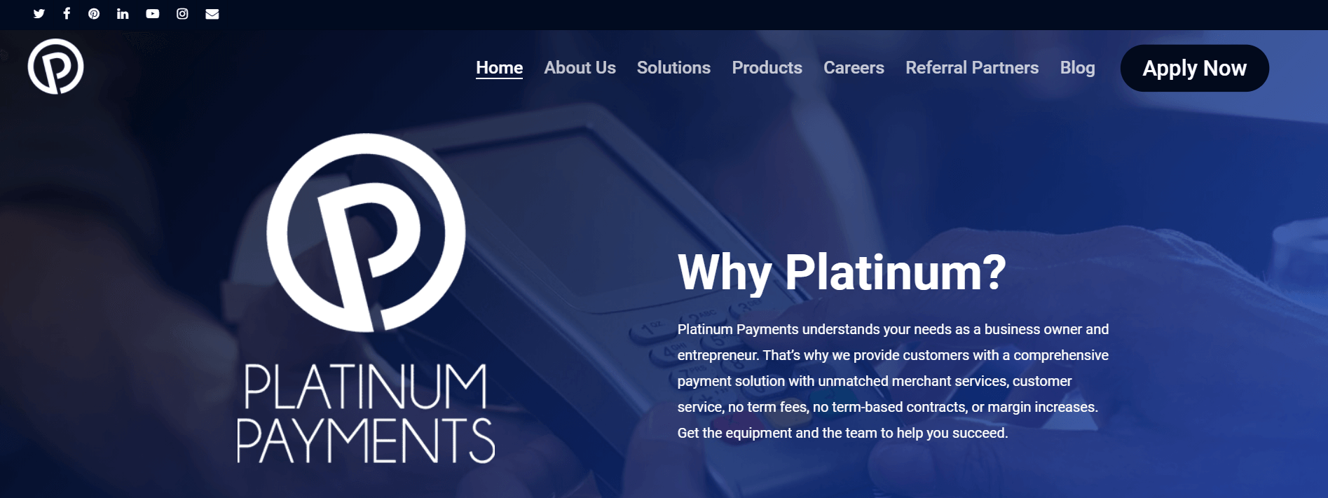 platinum payments home page