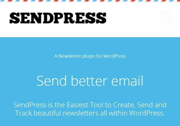 sendpress home page