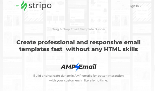 stripo website home page