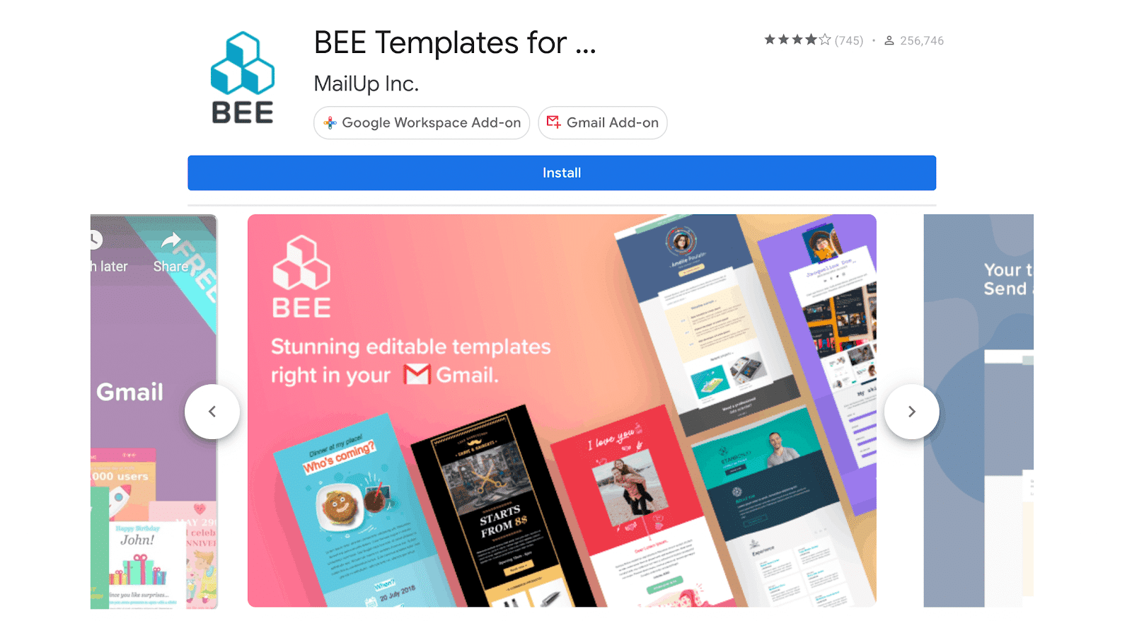 importing beefree templates into gmail