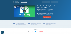 Mailking home page