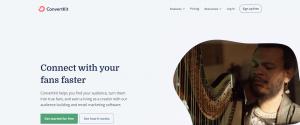 convertkit home page