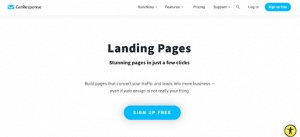 getresponse for landing pages