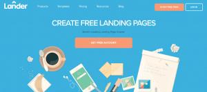 lander for landing page
