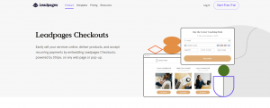 leadpages checkouts feature