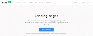 mailerlite for landing pages