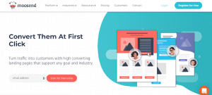 moosend for landing pages