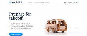 sendinblue home page