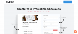 simvoly checkout feature