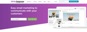 verticalresponse home page