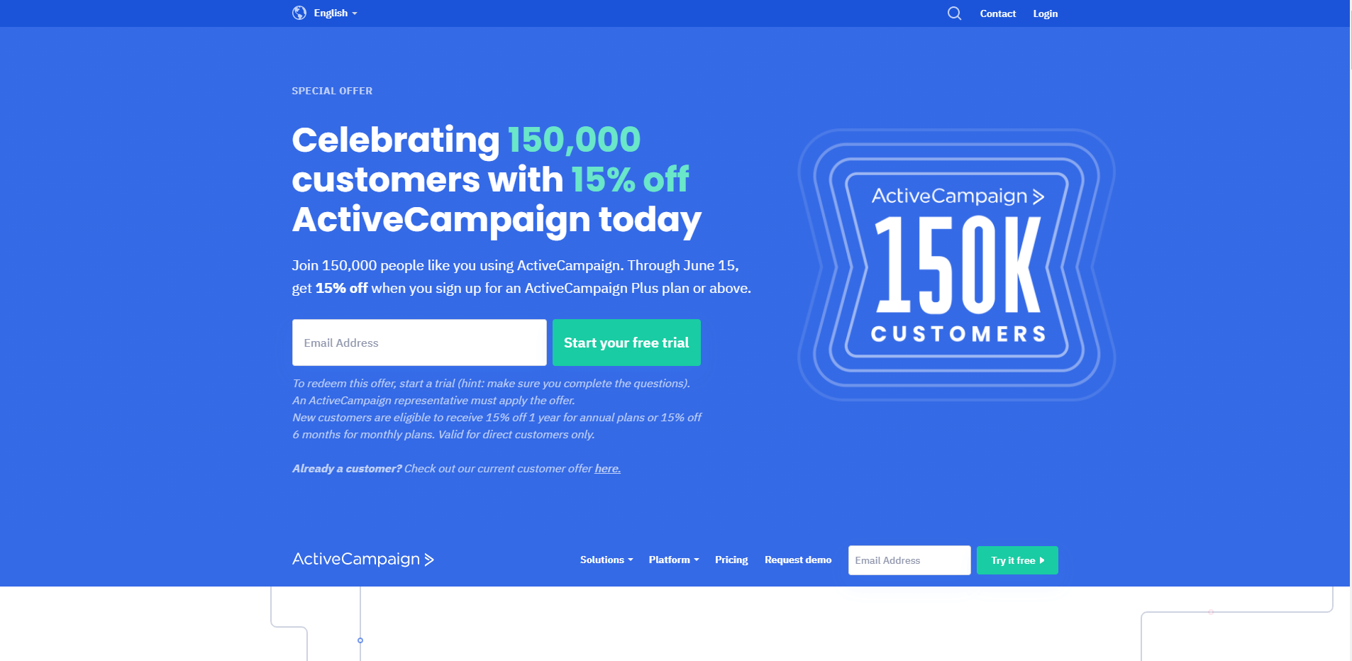 activecampaign home page