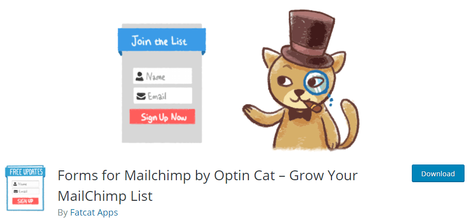 forms for mailchimp on wordpress.org