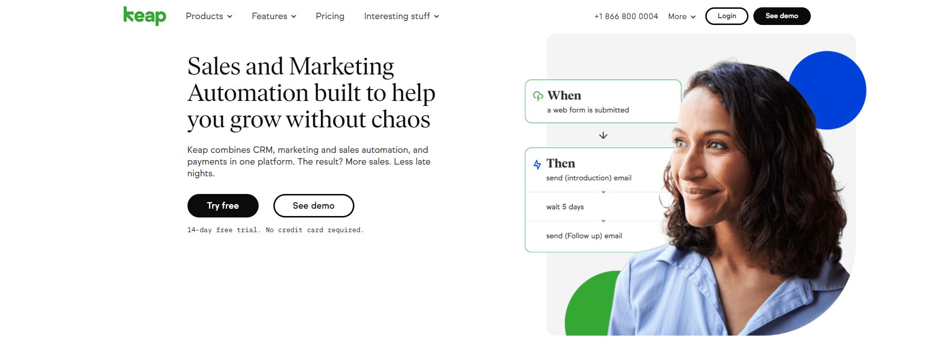 keap home page