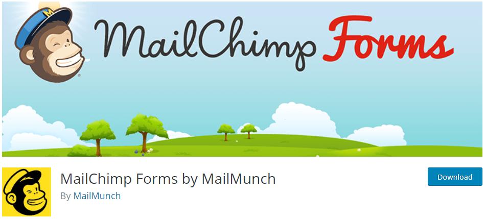 mailchimp forms on wordpress.org