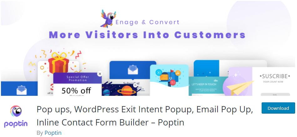 poptin on wordpress.org
