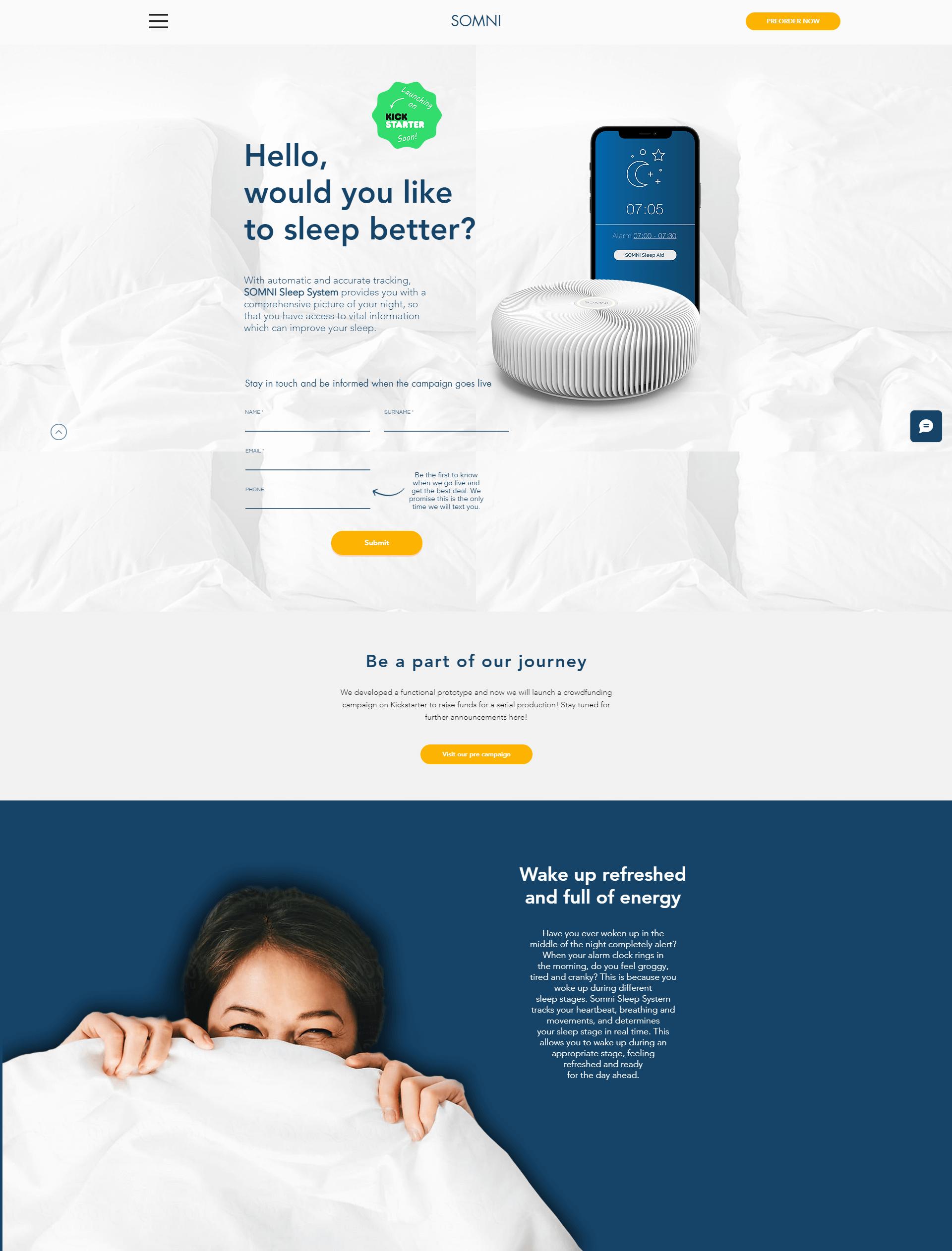 somni sleep landing page
