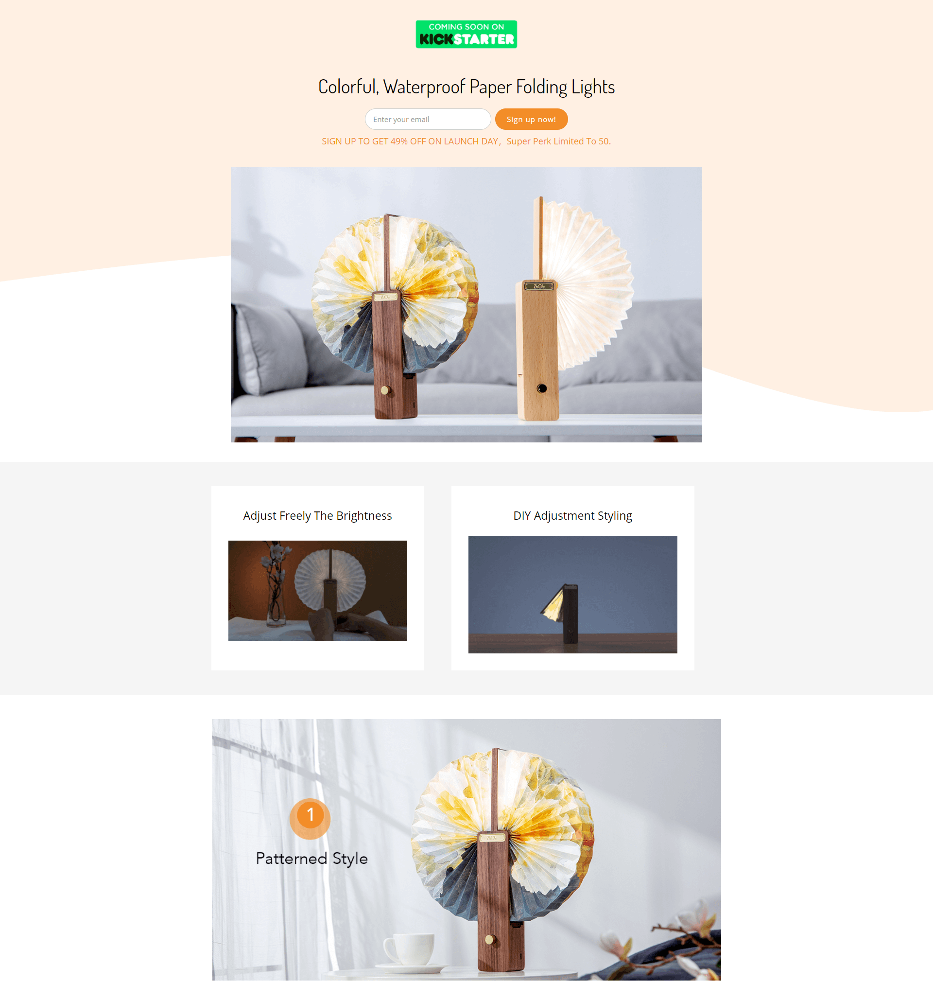 zbole omlamp landing page