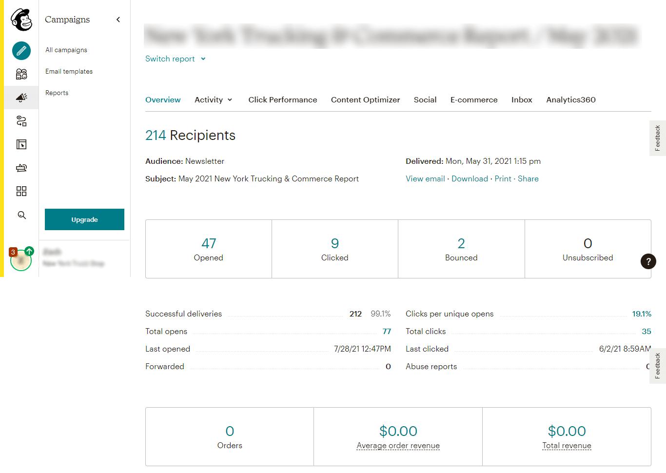 Mailchimp Reporting and Analytics 3