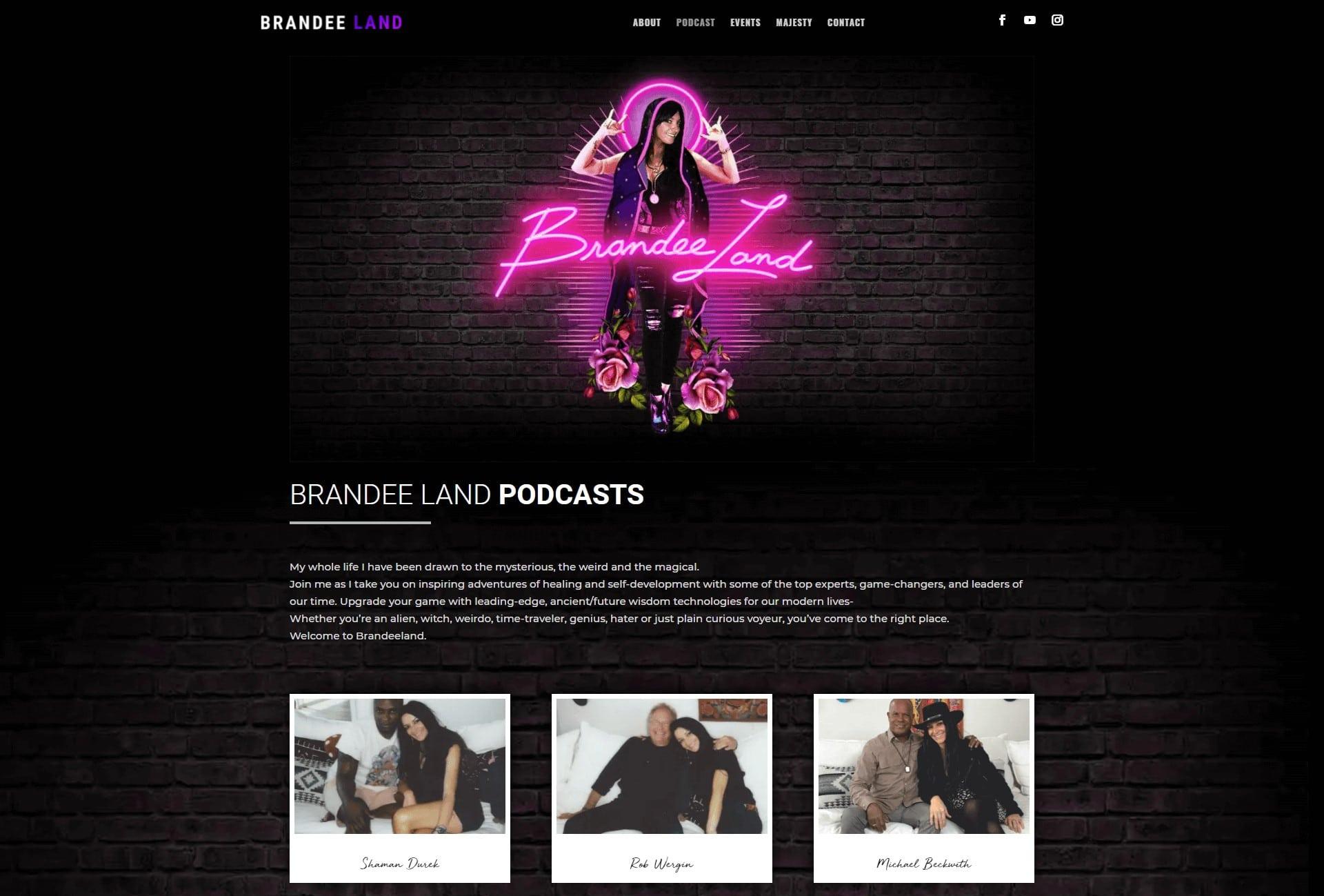 brandee land landing page