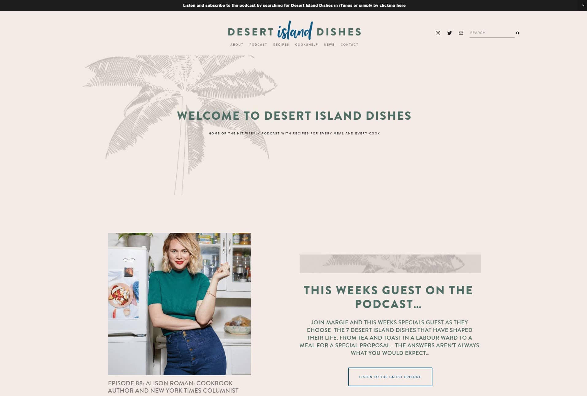 desert island dishes co landing page