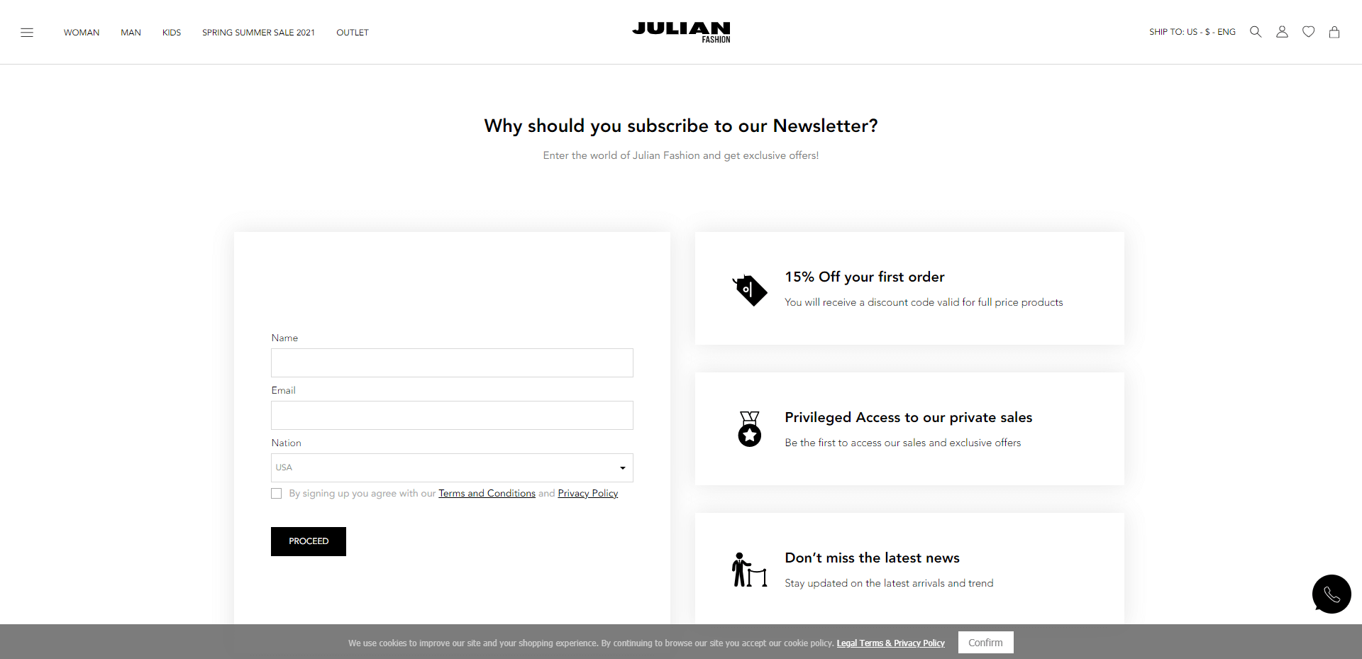 julian fashion newsletter