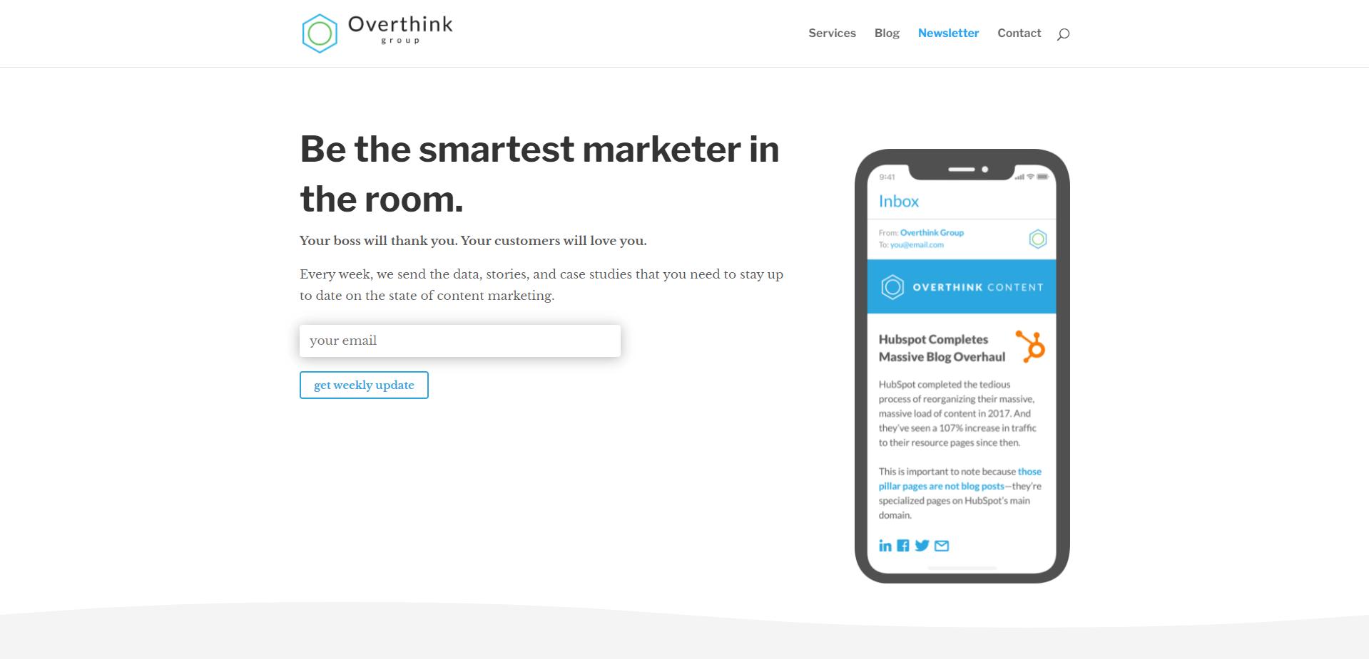 overthink group newsletter