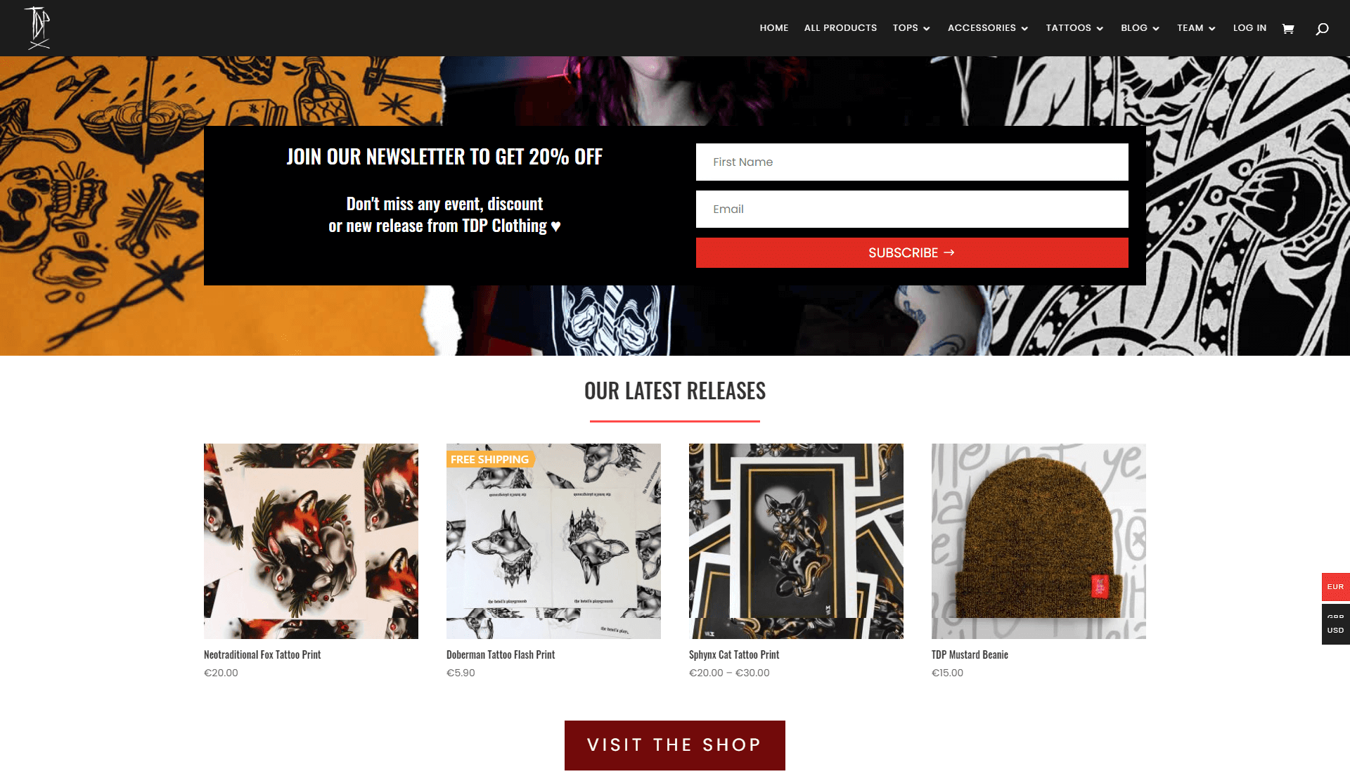 tdp clothing newsletter