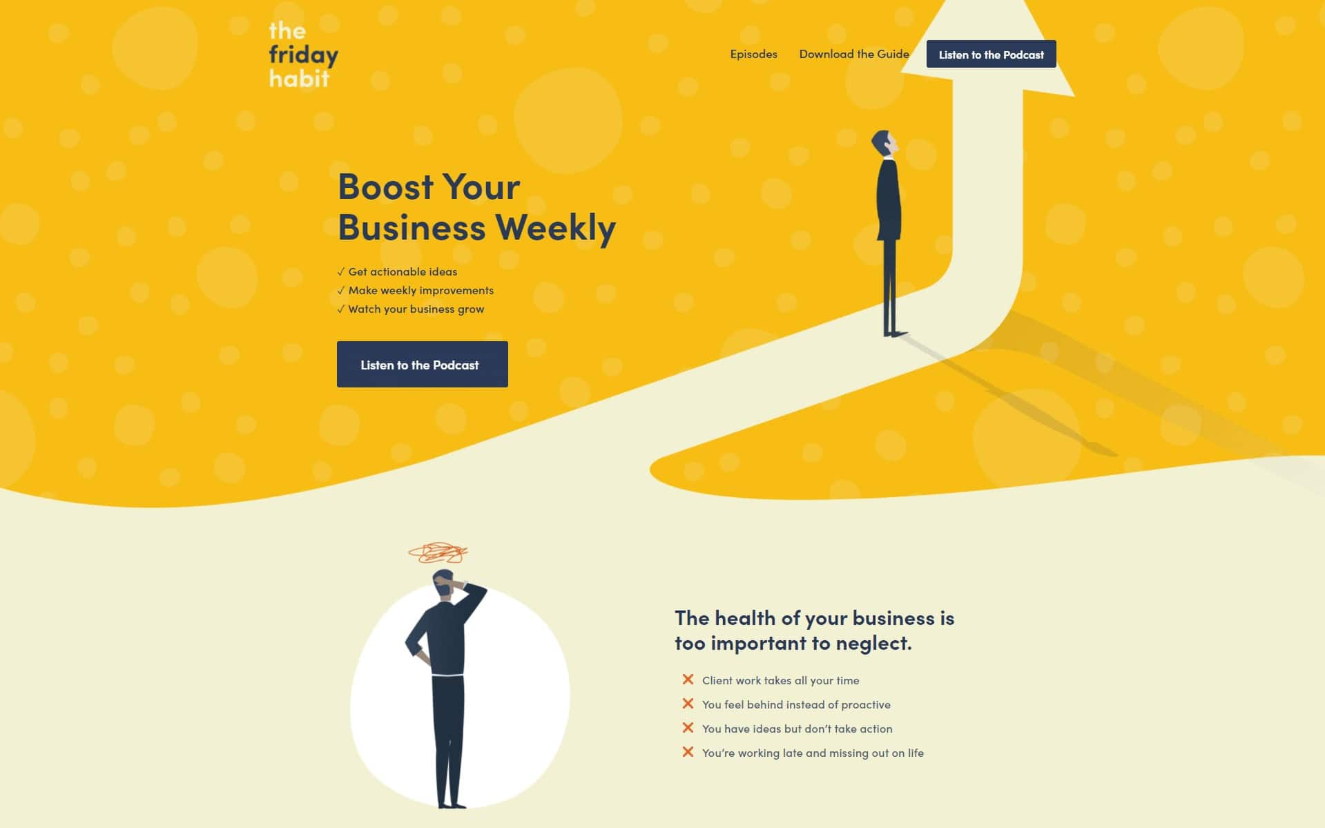 the friday habit landing page