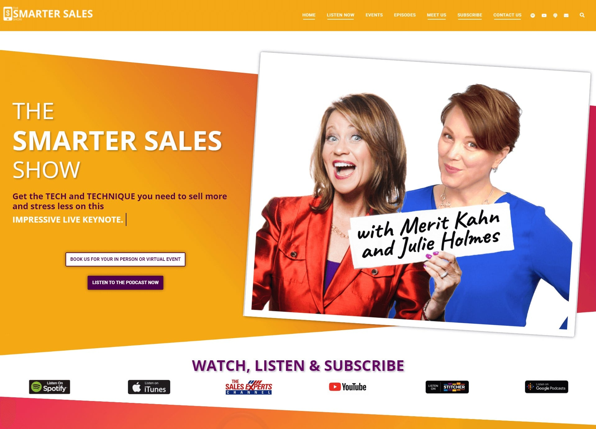 the smarter sales show landing page