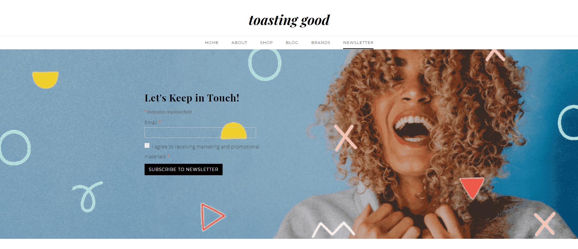 toasting good newsletter