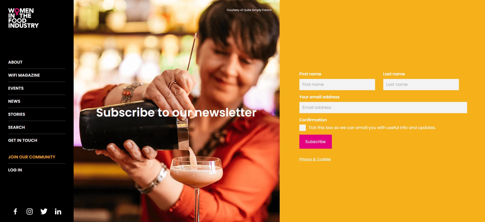 women in the food industry newsletter