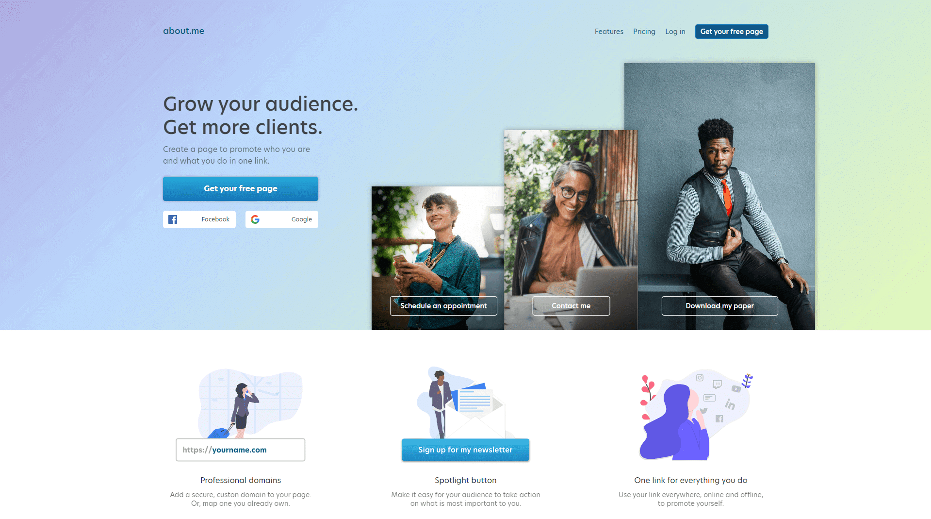About Me homepage