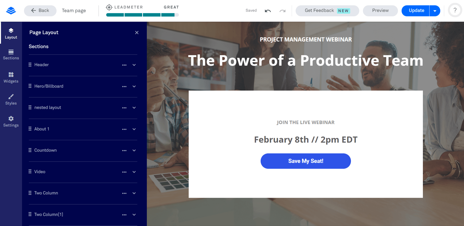 Leadpages Editor