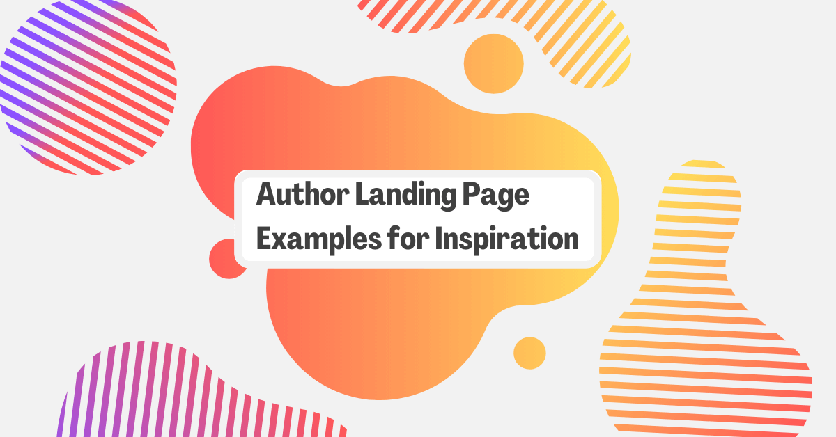23 Author Landing Page Examples for Inspiration