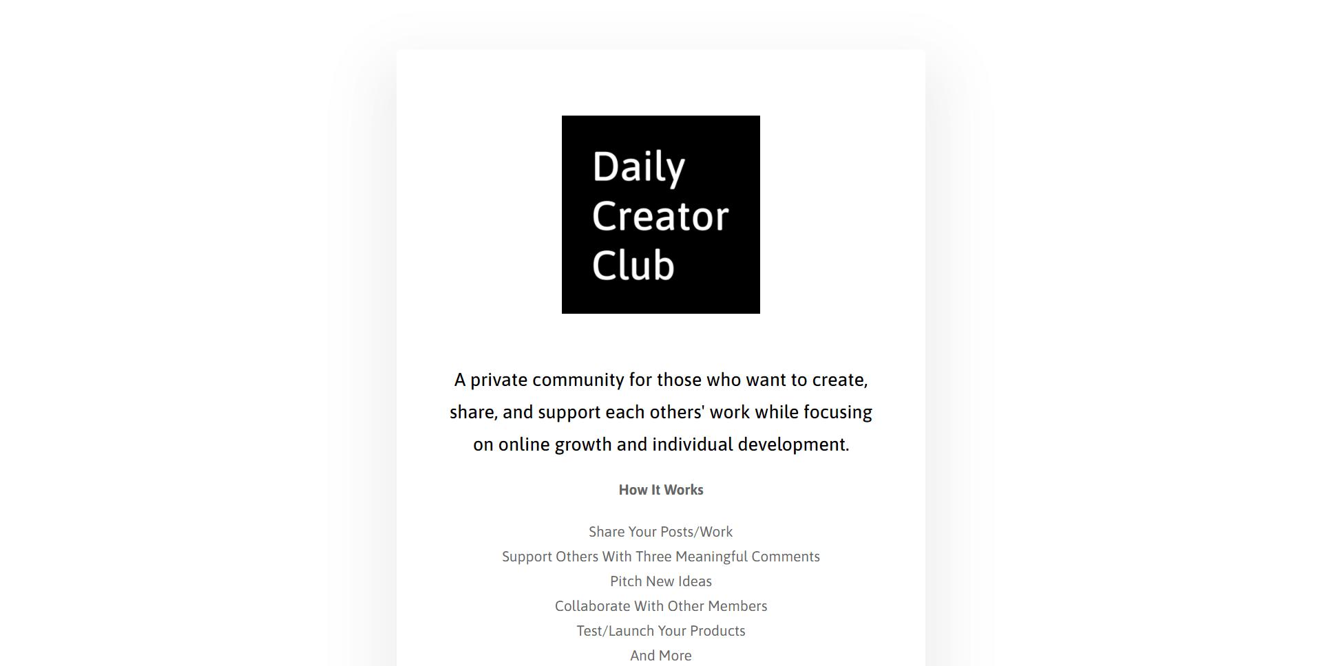 Daily Creator Club