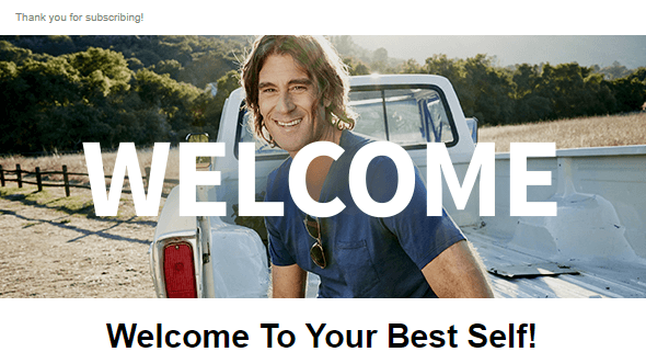 Rich Roll welcome email