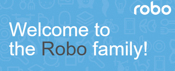 Robo welcome email