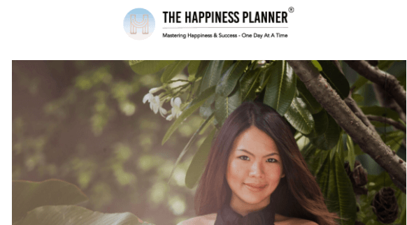 The Happiness Planner welcome email